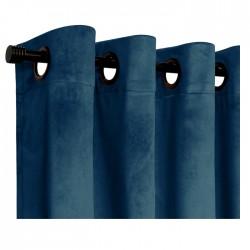 Set Cortina Velvet Azul 140X220