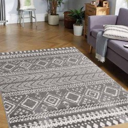 Heatset Ethnic 133x180 Gray
