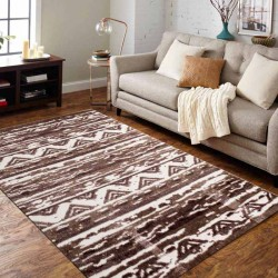 Heatset Ethnic 133x180 Brown