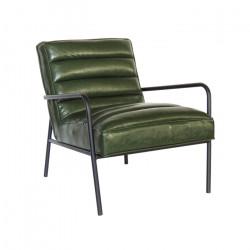 Poltrona Carolyne PU Verde Vintage