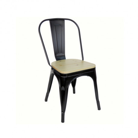 Silla Antique Rustic Negro