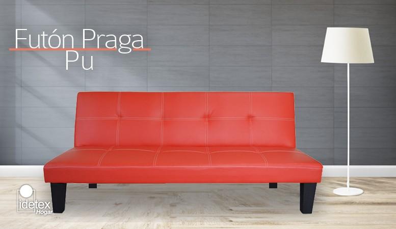 Ir a Futón Praga Pu Rojo