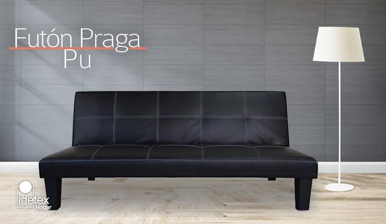 Ir a Futón Praga Pu Negro